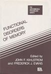FUNCTIONAL DISORDERS OF MEMORY