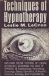 TECHNIQUES OF HYPNOTHERAPY